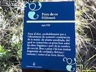 Placa informativa del Forn de Ca l'Oliveró. Autor: Josep Massaguer Bou