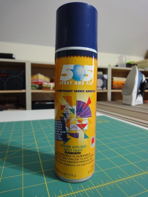 how to use glue spray on quilts