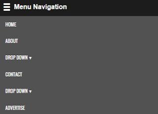 menu navigasi
