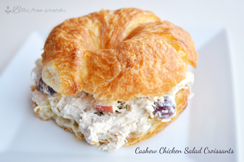 Cashew Chicken Salad Croissants