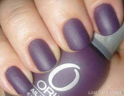 orly purple velvet nail polish