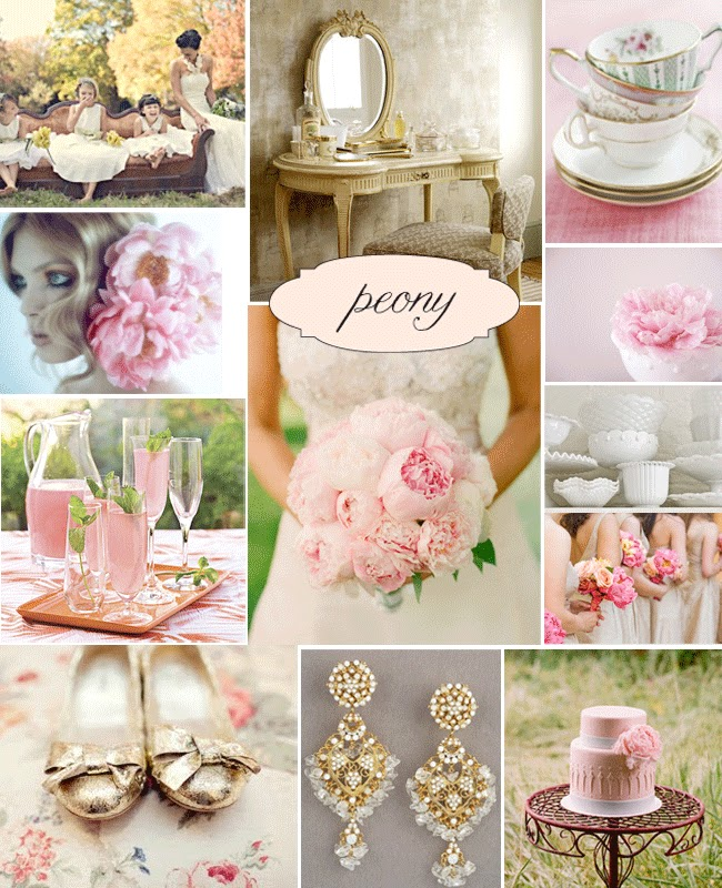 Peony Inspired Wedding Ideas: Your Wedding Support: GET THE LOOK