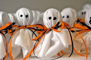 Pirulito decorado de fantasma para halloween