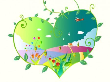 corazón de primavera