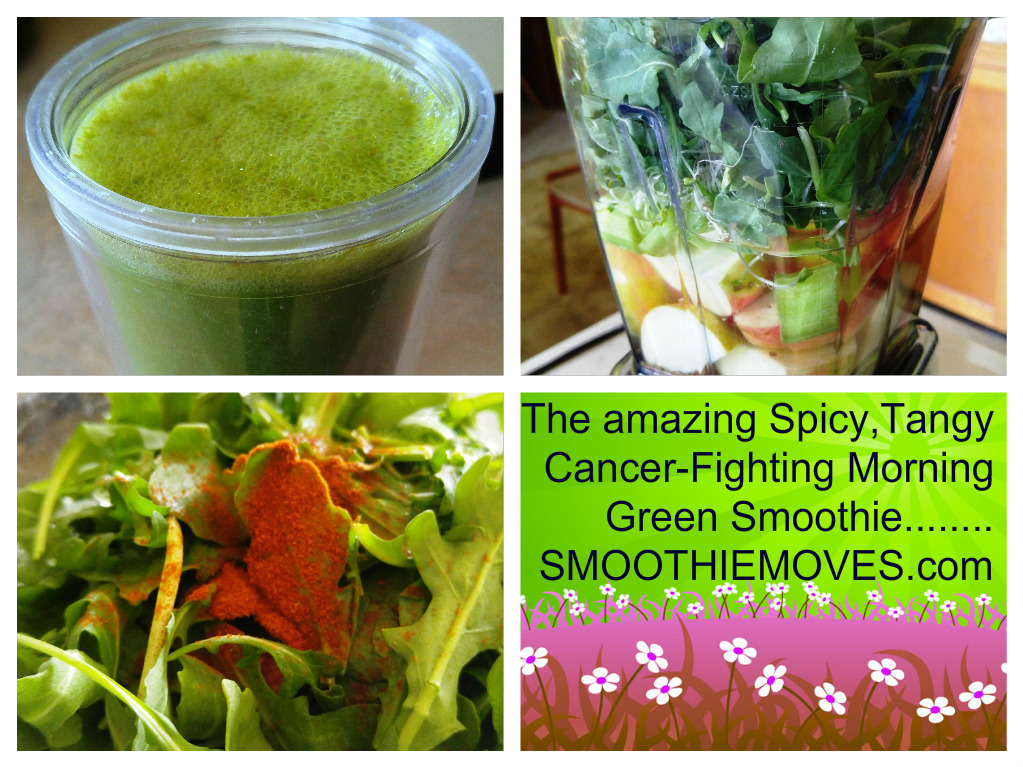Spicy, Tangy Cancer-fighting Green Breakfast Smoothie
