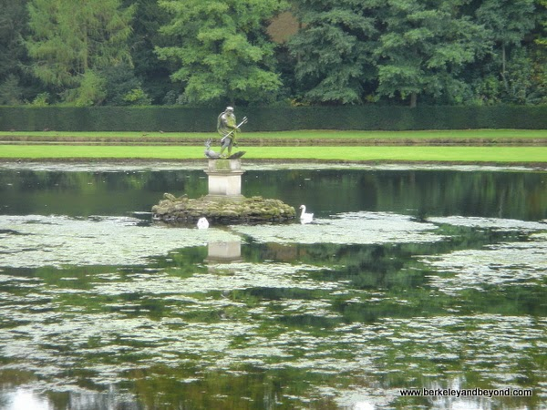 Water Garden at Fountains Abbey in Ripon, North Yorkshire, England