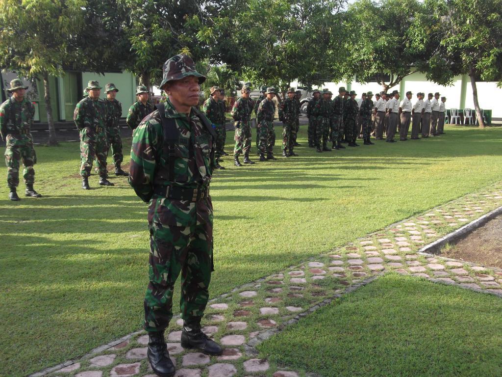Komandan upacara pembukaan UTJ Paldam IX/Udy Th 2012
