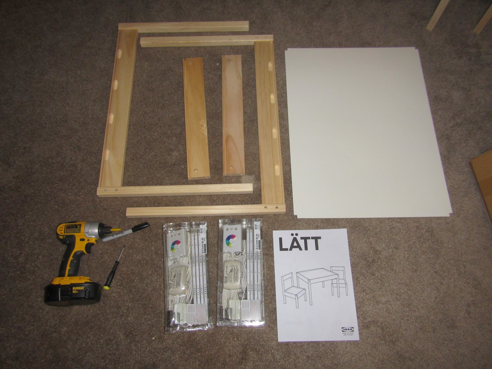 hobby mommy creations diy light table ikea hack