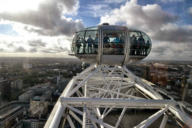 The view from the top of the London Eye