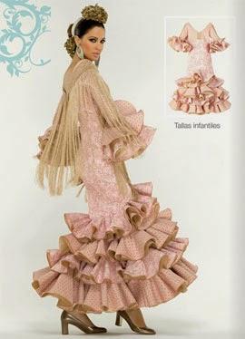 trajes de sevillana niñas El Corte Inglés 2014