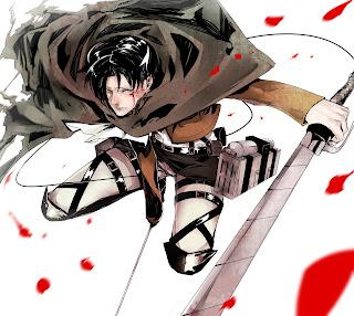Attack on Titan Shingeki no Kyojin Rivaille Levi Anime Sword Blade HD Wallpaper Desktop PC Background