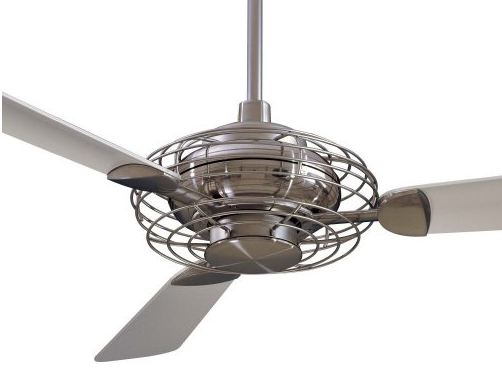 Ten great ceiling fans driven by decor - Industrial style ceiling fan with light ...