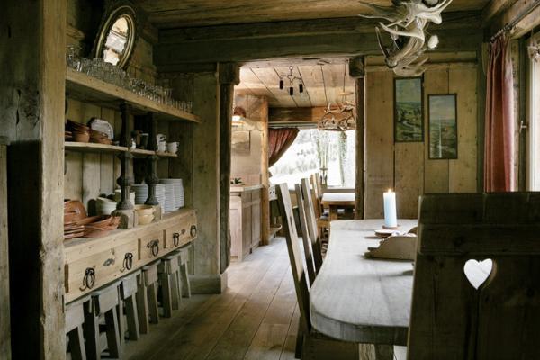 comedor rustico en madera