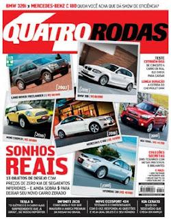 Capa da edição de janeiro de 2013 da Quatro Rodas.