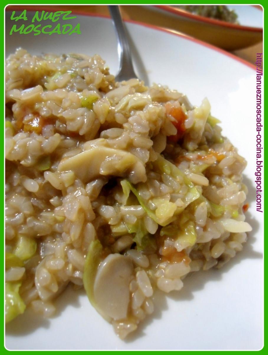 La nuez moscada risotto integrale con cavoletti di - Risotto arroz integral ...