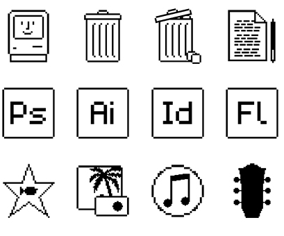 Retro Mac Design Icons