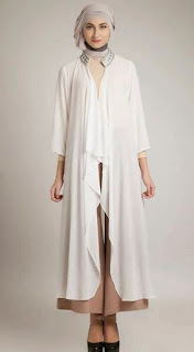 Contoh model baju hamil muslim untuk lebaran