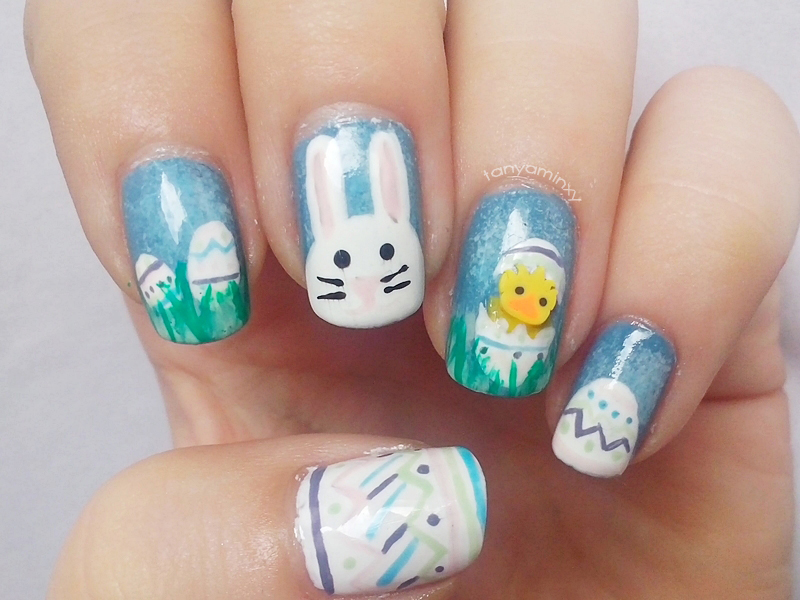tanyaminxy Matching Manicures: Easter Nails