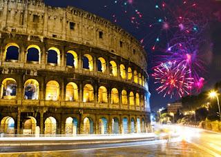 Gambar Kembang Api Tahun Baru 2016 Roma Italy Happy New Year HD Wallpaper