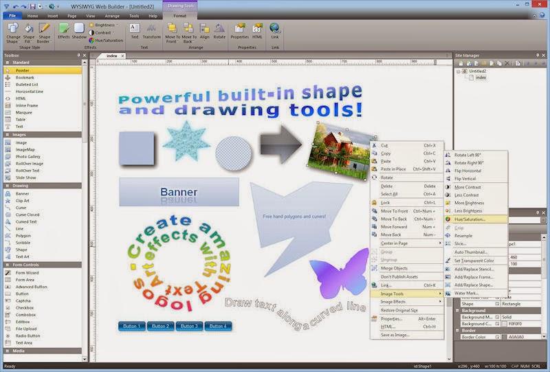 شرح وتحميل برنامج بناء وتصميم مواقع وصفحات الويب بدون إستخدام لغات البرمجة WYSIWYG Web Builder 9
