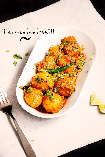 bengali style dum aloo with green peas recipe