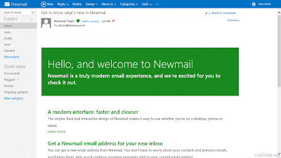 hotmail turns newmail