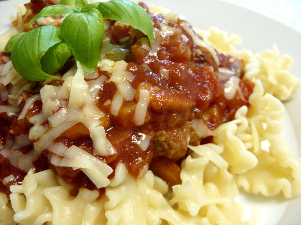"... Chipotle meatballs in rich tomato sauce - definitely ""spicy meatballs"