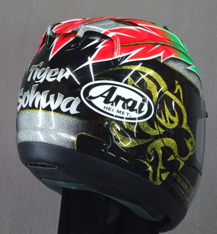 Design Helm racing helmets garage arai rx gp tiger sohwa 2015 by yf design