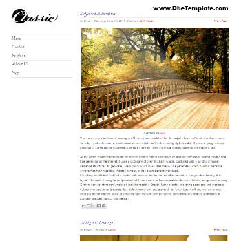Clasic blogger template. personal blogger template
