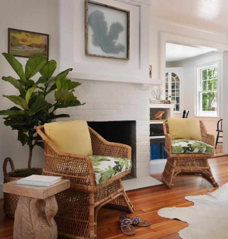 Coastal wicker chairs