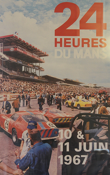 Affiche officielle des 24 Heures du Mans 1967