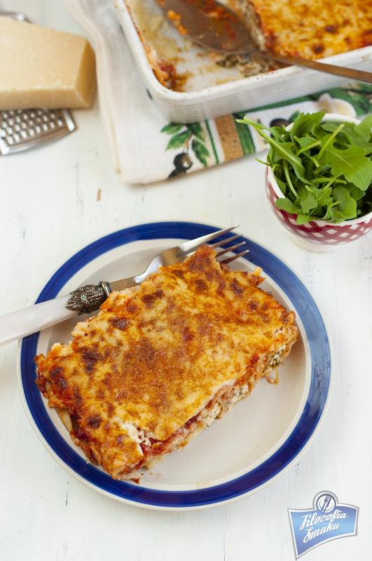 Makaron rurki z serem