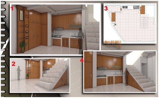 Set almari tangga dan kitchen set katalog desain pak de i for Katalog kitchen set