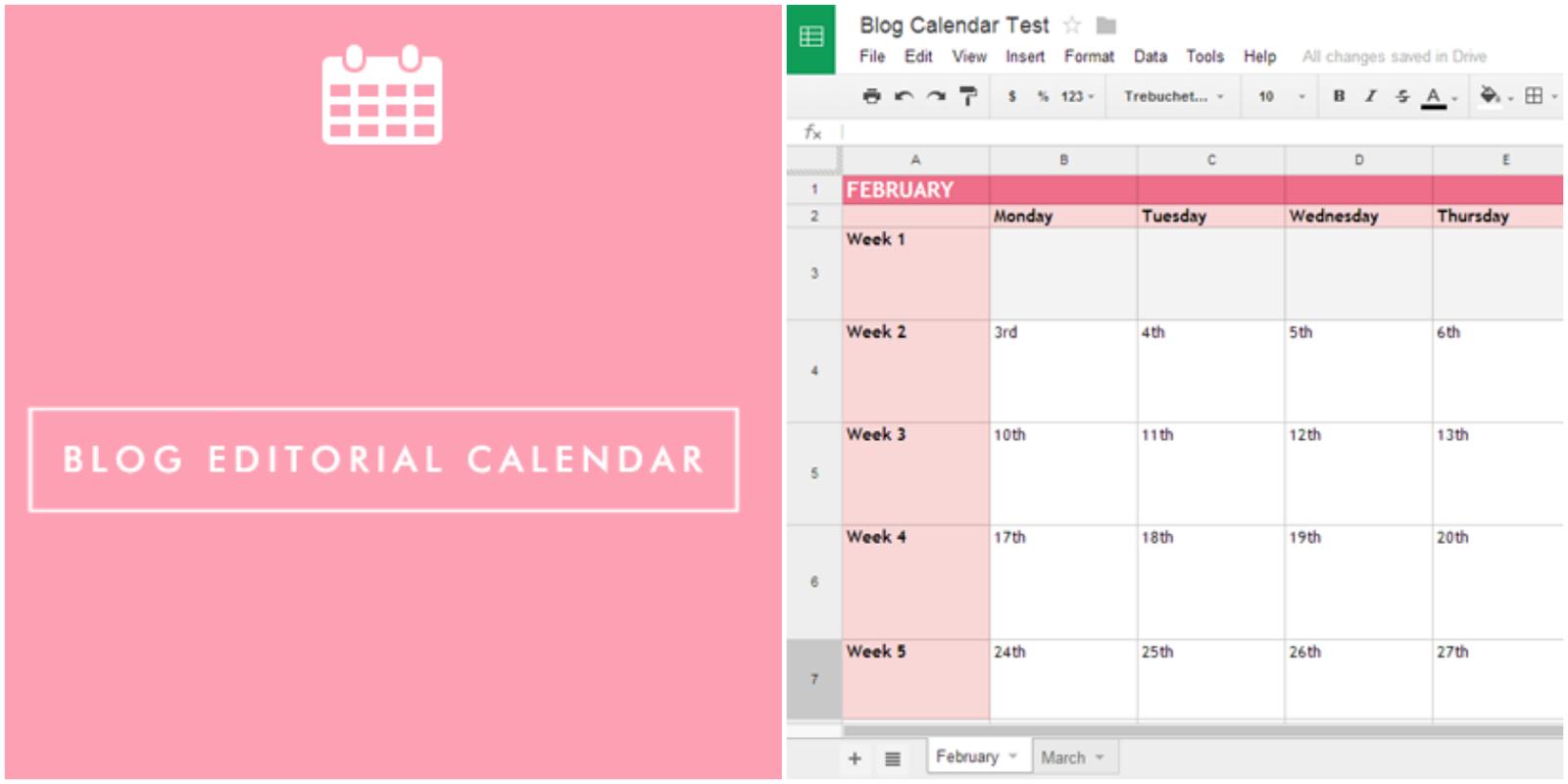Blog Editorial Calendar How To