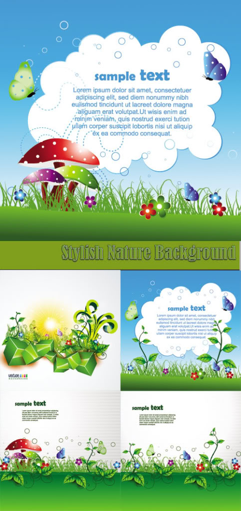Stock Vectors - Stylish Nature Background