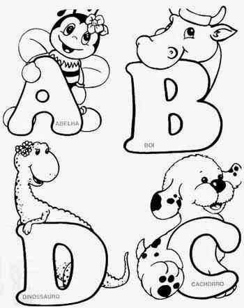 alfabeto dos bichinhos para pintar em tecido