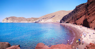 Santorini red beache