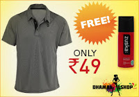 Buy One T-shirt & Get Zuska Deodorant Free at Just Rs. 49:buytoearn