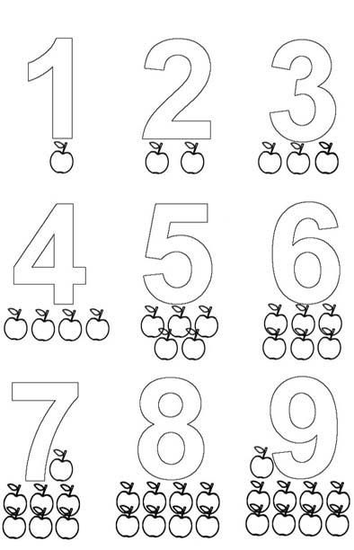 Ba da web desenhos de n meros para colorir for Actividades para jardin de infantes para imprimir