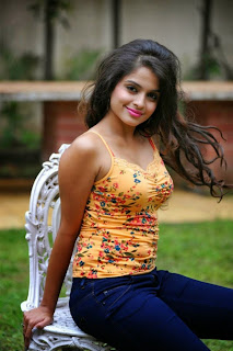 Sheena Shahabadi looks super cute in tank top ad Gaddam Gang movie Press meet