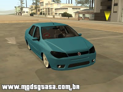 Fiat Siena Galera do Arrasta para GTA San Andreas
