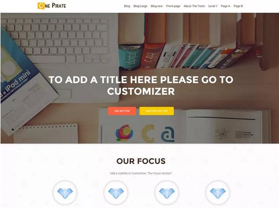 OnePirate Wordpress theme