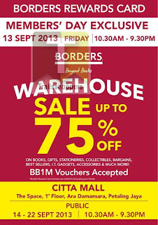 Borders Beyond Books Warehouse Sale 2013
