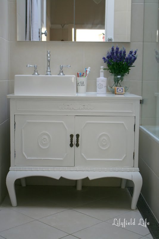 Lilyfield life turning vintage furniture into a bathroom French provincial bathroom vanities
