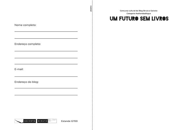 Programação da Bienal de São Paulo - Editora Biruta e Gaivota Concurso Cultural