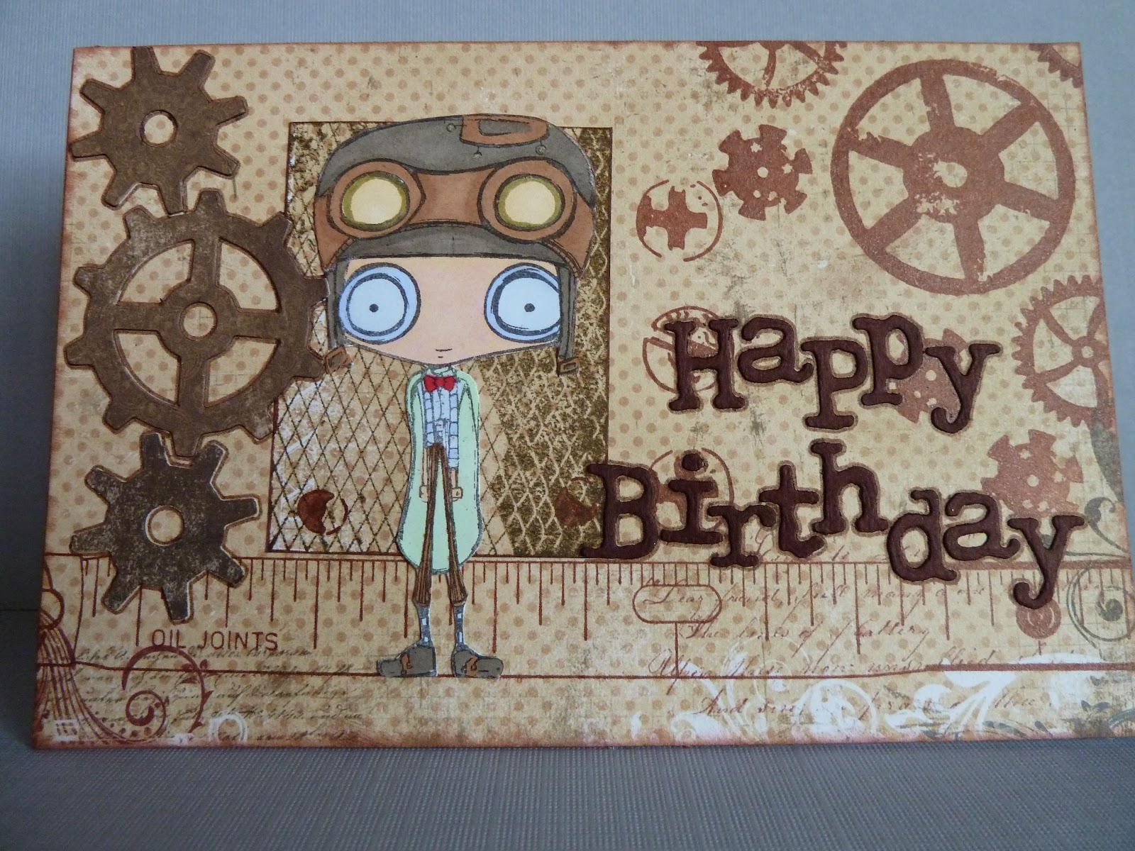 The Fruit Pixie Octopode Factory Birthday Card – Steampunk Birthday Card