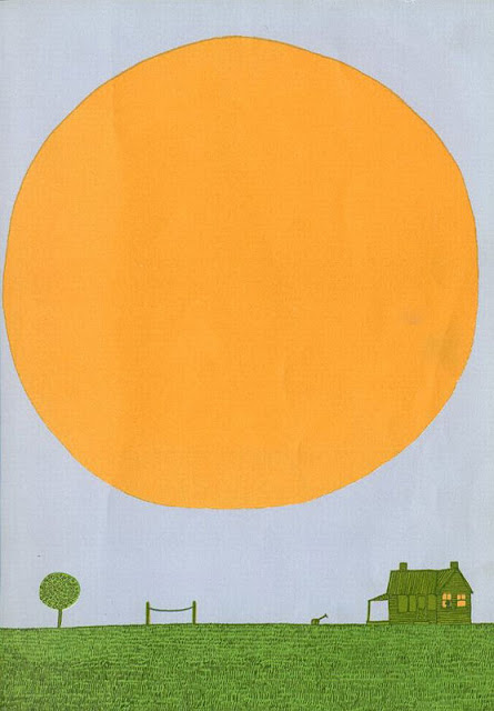 Ilustração de Remy Charlip para A Day of Summer.