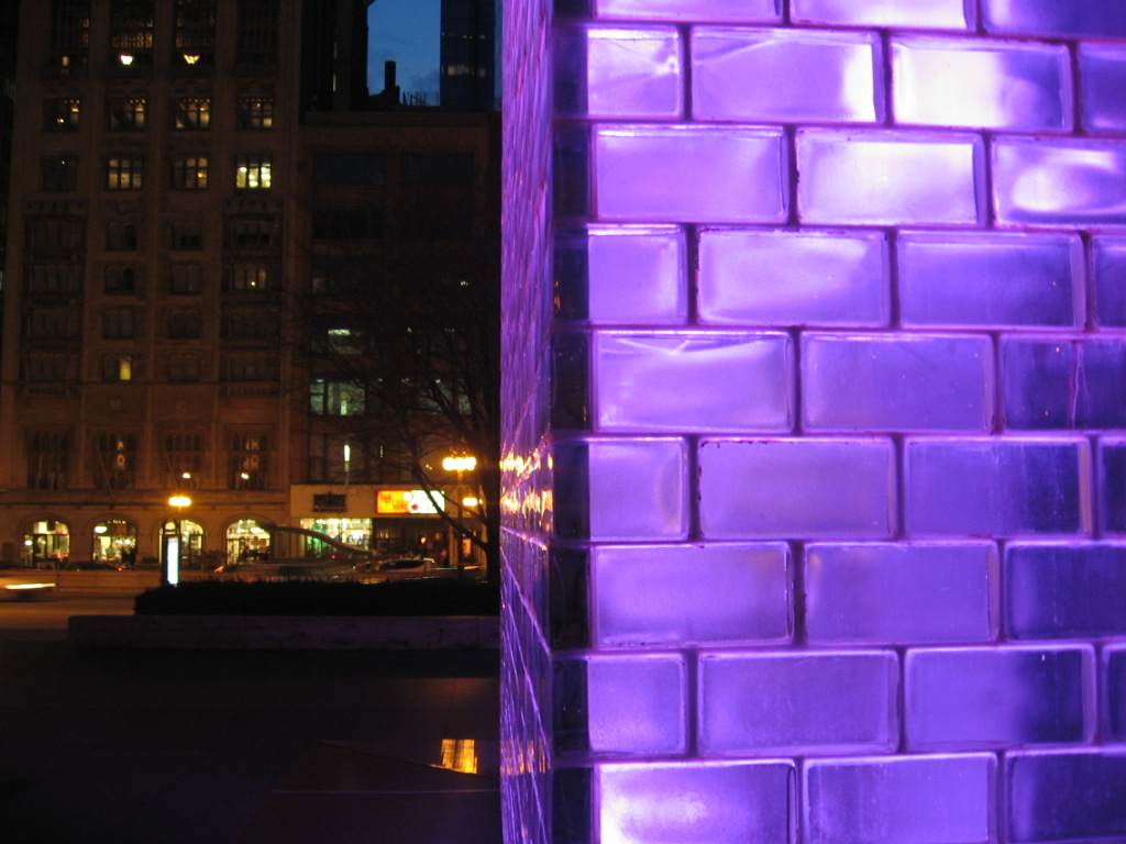 Crown Fountain In Purple With