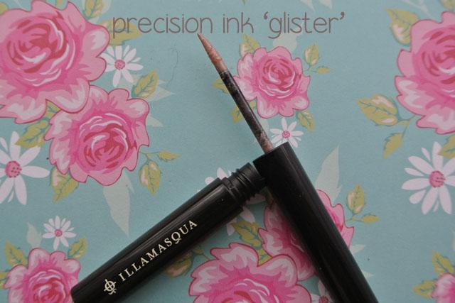 illamasqua mystery box swatch precision ink glister