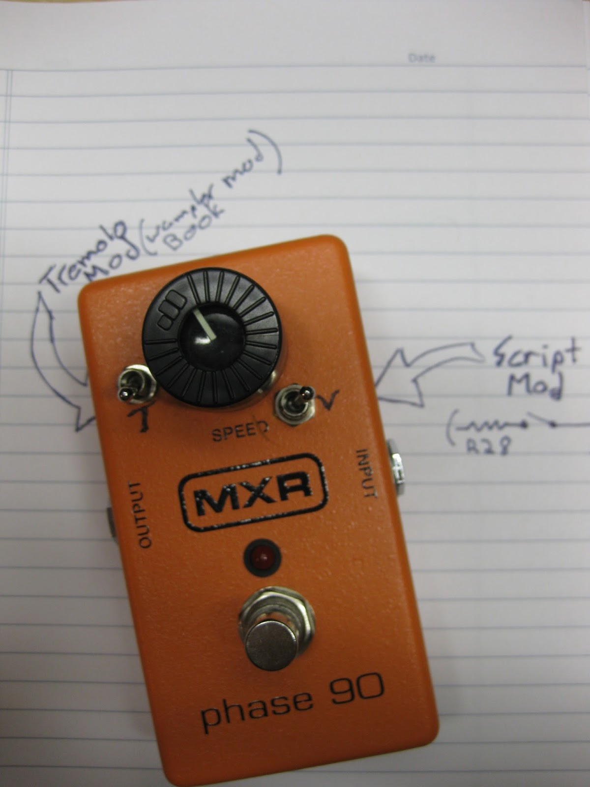 DIY Guitar pedal projects: Phase 90 mods